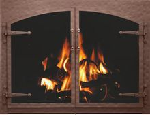 Craftsman Forged Iron Fireplace Door