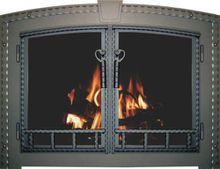 Craftsman Blacksmith Fireplace Door