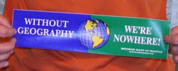 Geography Bumper Sticker