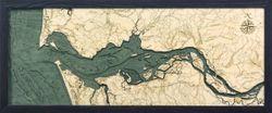 Columbia River Mouth Woodchart