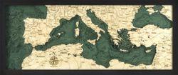 Mediterranean Sea Woodchart