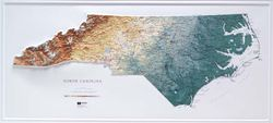 North Carolina Raised Relief Map (Raven colors)