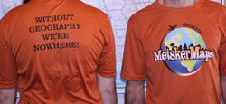 Metsker Maps T-Shirt Quick Dry Fabric - Choose Size