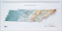 Tennessee Raised Relief Map (Raven colors)
