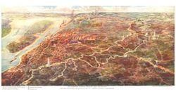 Antique Map of Vicksburg, MS 1925