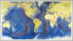 WORLD OCEAN FLOOR MAP by Marie Tharp