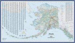 Alaska State Map by Imus Geographics