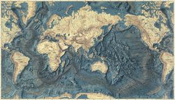 Floor of the Oceans Relief Map by Marie Tharp