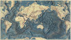 Heezen tharp ocean floor map physical world map floor of the oceans relief map by marie tharp gumiabroncs Gallery
