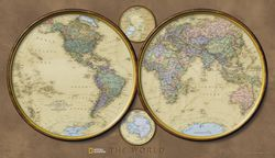 World Hemispheres Map by National Geographic