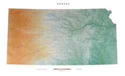 Kansas Wall Map by Raven Maps
