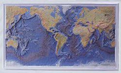 World Ocean Floor Raised Relief Map