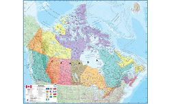 Canada Political Wall Map by Maps International