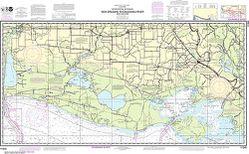 Nautical Chart 11345 Gulf Coast: Calcasieu Pass to Cote Blanche Bay