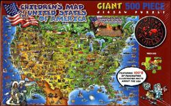 Children's USA Map Jigsaw Puzzle by Hema