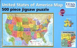 USA Map Jigsaw Puzzle by Hema