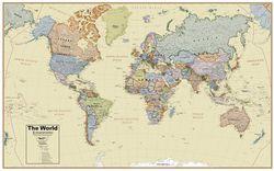 World Boardroom Wall Map