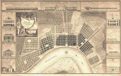 Antique Map of New Orleans, LA 1815