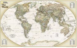 Explorer Executive World Map by National Geographic