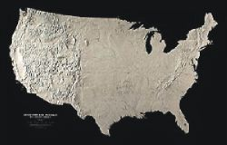 Landforms and Drainages of United States by Raven