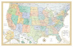 United States Wall Map by Rand McNally, Classic Beige