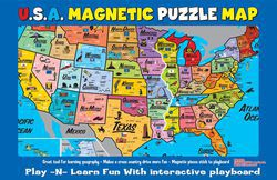 Magnetic Puzzle Map Of The United States Usa Magnetic Kids Puzzle - Puzzle-us-map