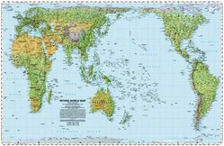 Peters Equal Area Projection - Physical World Map