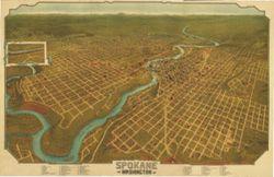 Antique Map of Spokane, WA 1905