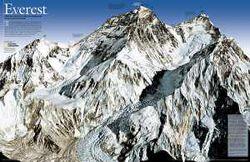 Mt. Everest Map 50th Anniversary