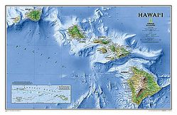 Hawaii Wall Map by National Geographic