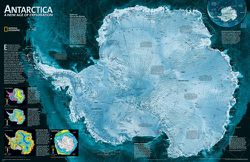 Antarctica Wall Map by National Geographic