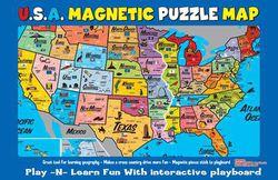 U.S. Magnetic Map Puzzle