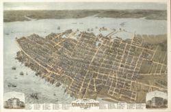 Antique Map of Charleston, SC 1872
