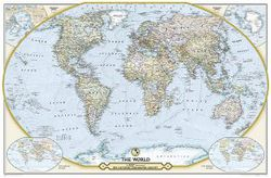 Political World Map - 125th Anniversary by National Geographic