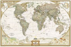 Political World Map - Executive by National Geographic