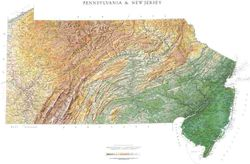 New Jersey & Pennsylvania Wall Map l Raven Maps