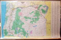 Oregon State Wall Map by Pittmon/ Oregon Blue Print