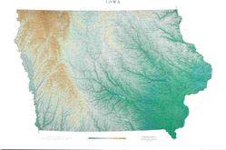 Iowa Wall Map l Raven