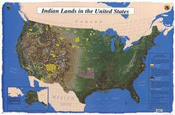 Indian Lands in the United States - Satellite Image