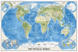Physical World Map by National Geographic