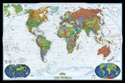 Decorator Political World Map by National Geographic