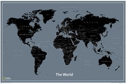 Modern World Map by National Geographic