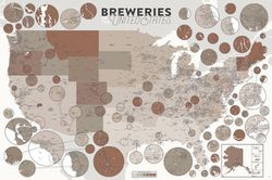 Breweries of the United States Map l Pop Chart Lab