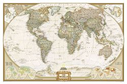 Framed World Map: Executive World Map