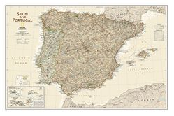 Spain & Portugal Wall Map, Executive Series by National Geographic