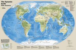 Dynamic Earth, Plate Tectonics Map by National Geographic