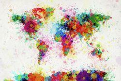 World Paint Drop Map