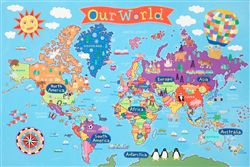 World Kids Wall Map by Round World Products