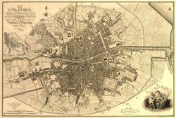 Antique Map of Dublin, Ireland 1797