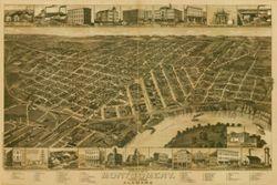 Antique Map of Montgomery, AL 1887